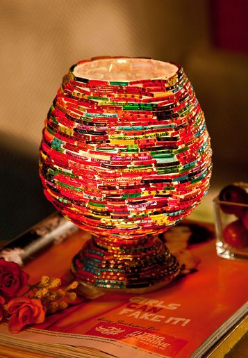 Lamps and bangles on pinterest for Waste out of best from bangles