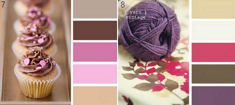 Коричный и розовый, коричневый и фиолетовый