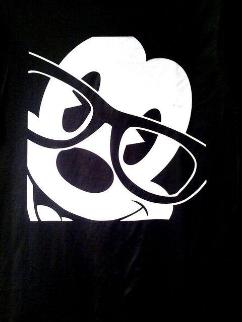 Mickey con lentes.