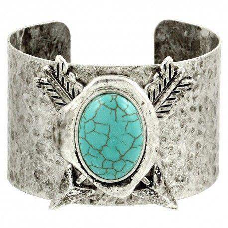 Arrow Turquoise Cuff Bangle