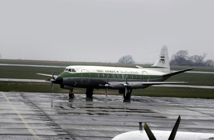 Iraqi Airway's Vickers Viscount V735 YI-ACK is seen at East Midlands Airport on February 22nd 1978. It became Alidair's G-BFMW, and was broken up at EMA in the early 1980s.
