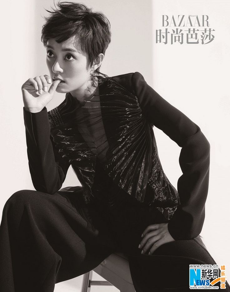 Actress Sun Li  http://www.chinaentertainmentnews.com/2016/05/sun-li-covers-bazaar-magazine.html