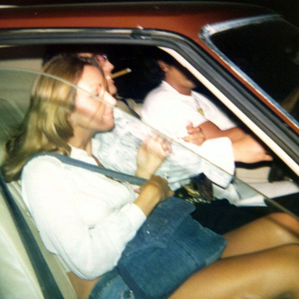 "awesome-prudence: ""loveselvispresley: "" Heading home after a night at the movies in Memphis with Linda Thompson sometime in July 1974 "" Whose driving lol """