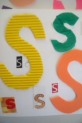 "What does the letter ""S"" feel like? @MakeDoAndFriend shares a great tactile way for practicing the alphabet! Pinned by SPD Blogger Network. For more sensory-related pins, see http://pinterest.com/spdbn"