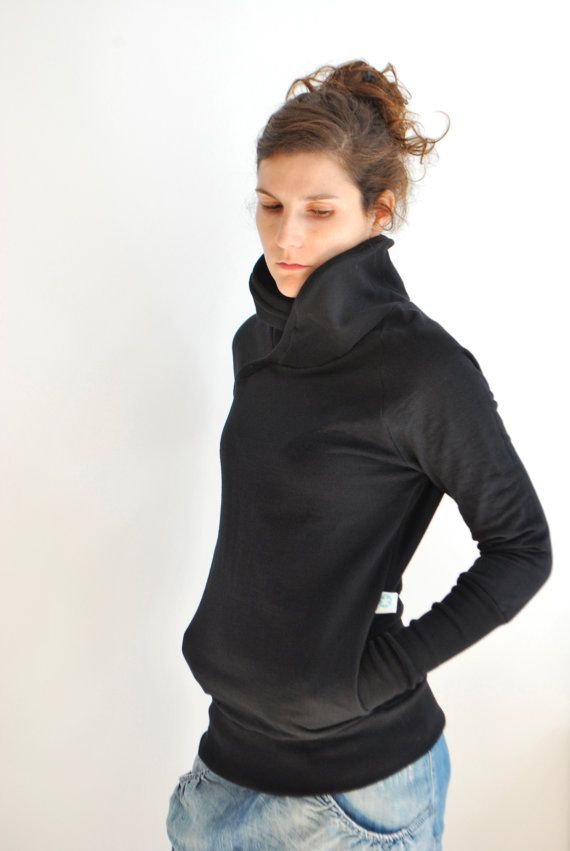 Black QUASAR WINTER Women sweatshirt sweater/   Gift for her / Fall fashion on Etsy, $85.00