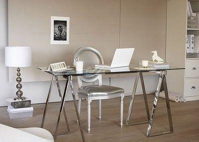 sawhorse desk interior design #livingroomchairs  #diningroomchairs #chairdesign upholstered dining chairs, silver chair, upholstered chairs | See more at http://modernchairs.eu
