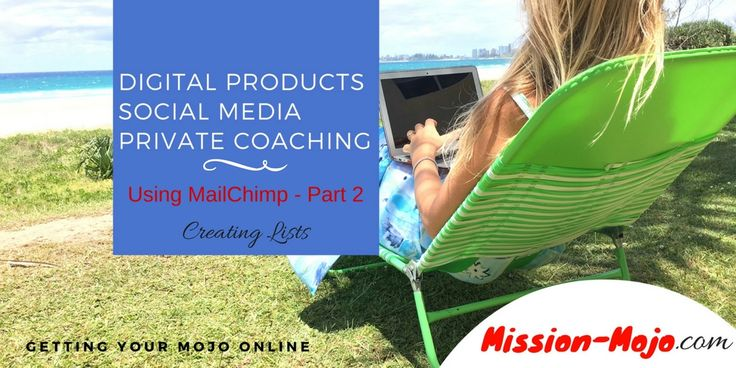 MailChimp basic tutorial series part 2 - Creating lists http://mission-mojo.com/mission-blog/mailchimp-basic-tutorial-series-part-2-creating-lists/?utm_campaign=coschedule&utm_source=pinterest&utm_medium=Mission%20Mojo&utm_content=MailChimp%20basic%20tutorial%20series%20part%202%20-%20Creating%20lists