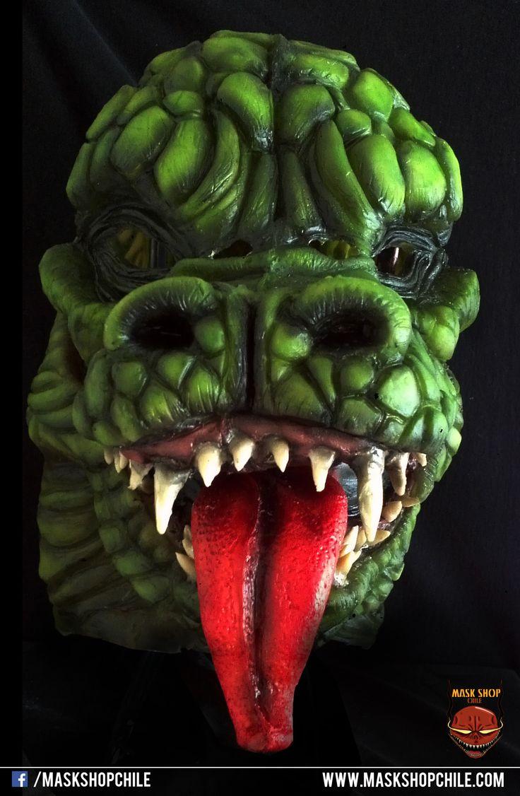The lizard latex mask www.facebook.com/maskshopchile
