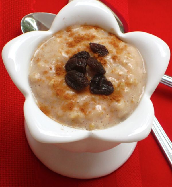Crockpot Brown Rice Pudding made with coconut milk. #crockpotricepudding #coconutmilkricepudding #ricepudding
