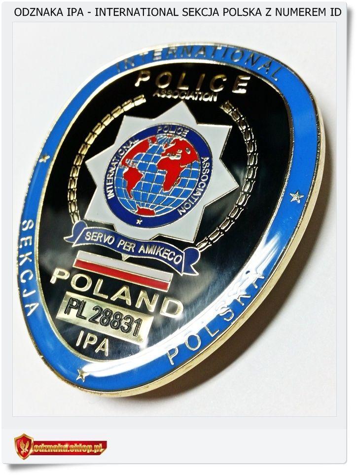 IPA International Sekcja Polska Odznaka z numerem ID
