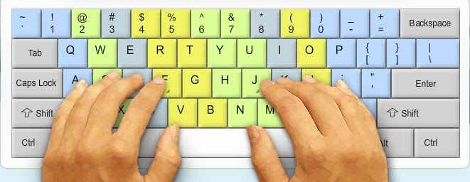 how to practice to use a pc key board fater