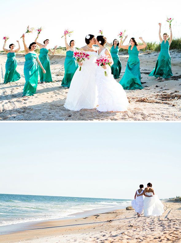 Lesbian wedding in Florida... could be the UK though, maybe?