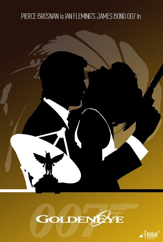 "James's Bond. 007. Movie poster: ""Goldeneye""."