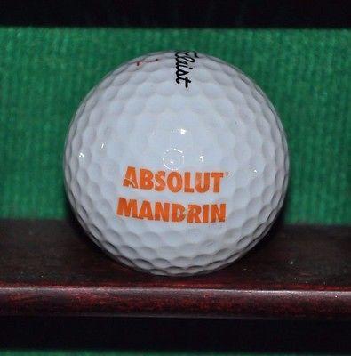 Absolut Mandarin Vodka Logo Golf Ball. Titleist
