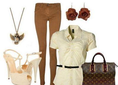 Как правильно и с чем носить коричневые брюки / Все для женщины
