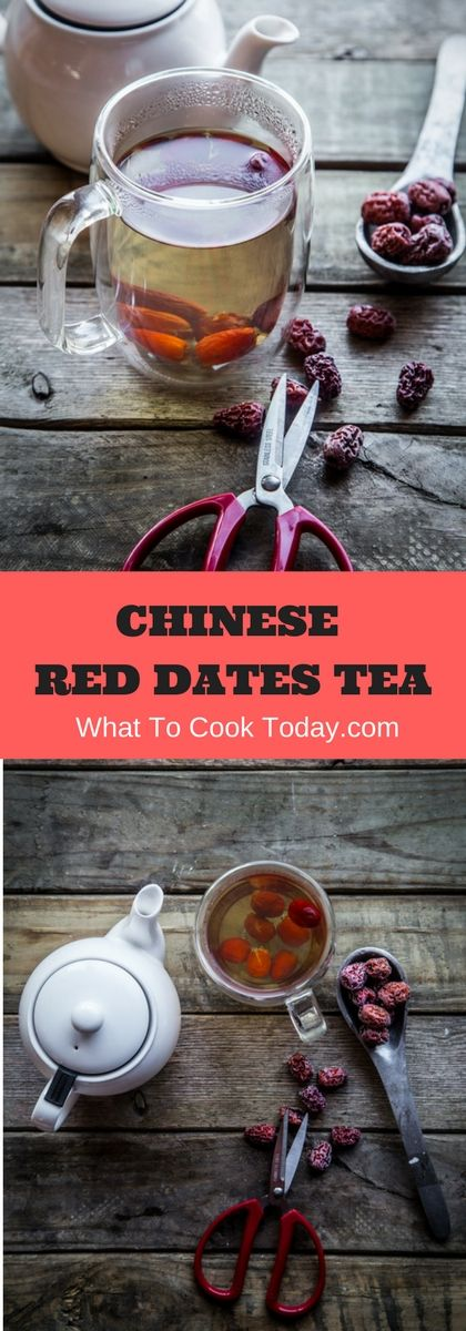 Red dates tea is made of Chinese red dates simmered on low heat for a period of time