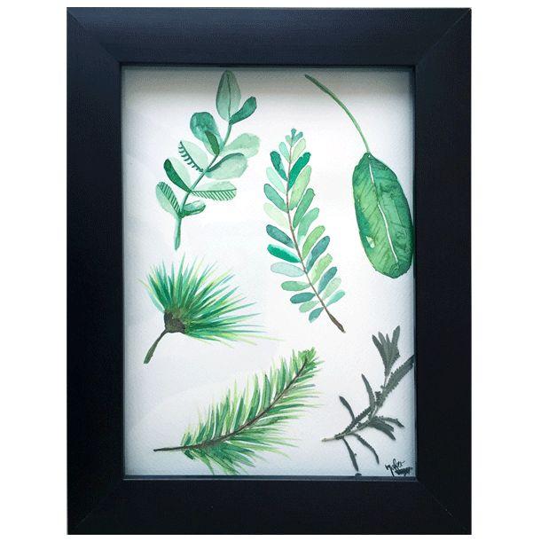 Naturaleza y Hojas - Watercolor #Art3Mas