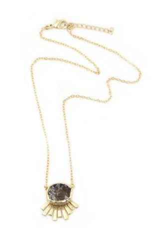 Zariin Smoked Crush Smoky Topaz Necklace: Available at http://eveadorned.com/collections/zariin
