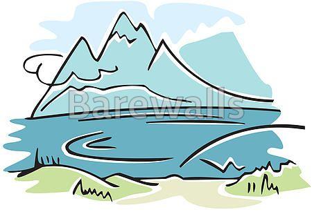 """mountain nature landscape"" - Landscape Illustration posters and prints available at Barewalls.com"