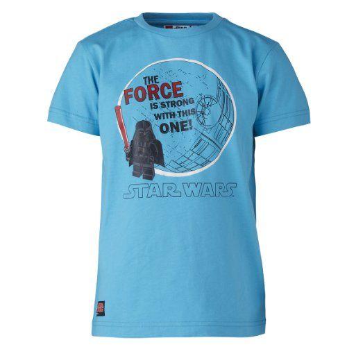 LEGO Wear Star Wars - Camiseta de manga corta con cuello redondo para niño, color turquesa 741, talla 4 años (104 cm) #camiseta #friki #moda #regalo
