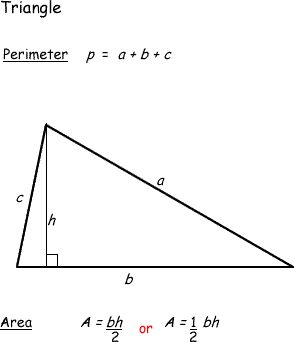 You Should Know the Difference Between Area and Perimeter: Surface Area and Perimeter of a Triangle