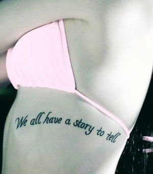 """we all have a story to tell, whether we whisper, or yell"" he is we"