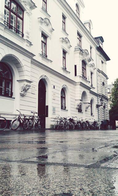 Rainy streets. Munich, Germany