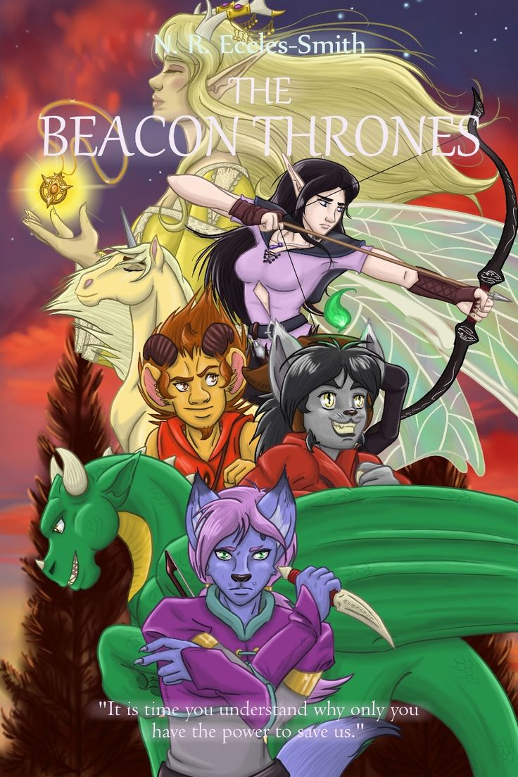 'Allies' poster from Series Two of the Dragon Calling Posters. Characters include Laeka'Draeon, Shifra, Ghinzel, Ubi, Norf, Maewren and Lady Megandel.