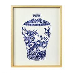 Decorative vase no.2 framed print