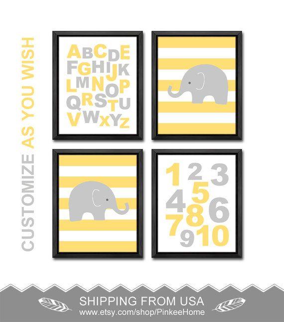 85 best alphabet nursery - ABC nursery decor - nursery letters and ...