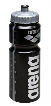 Arena Water Bottle - Black / Silver