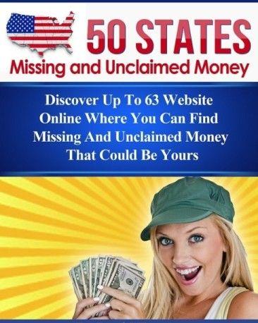Find Unclaimed Money at this website. http://www.missingandunclaimedmoney.com