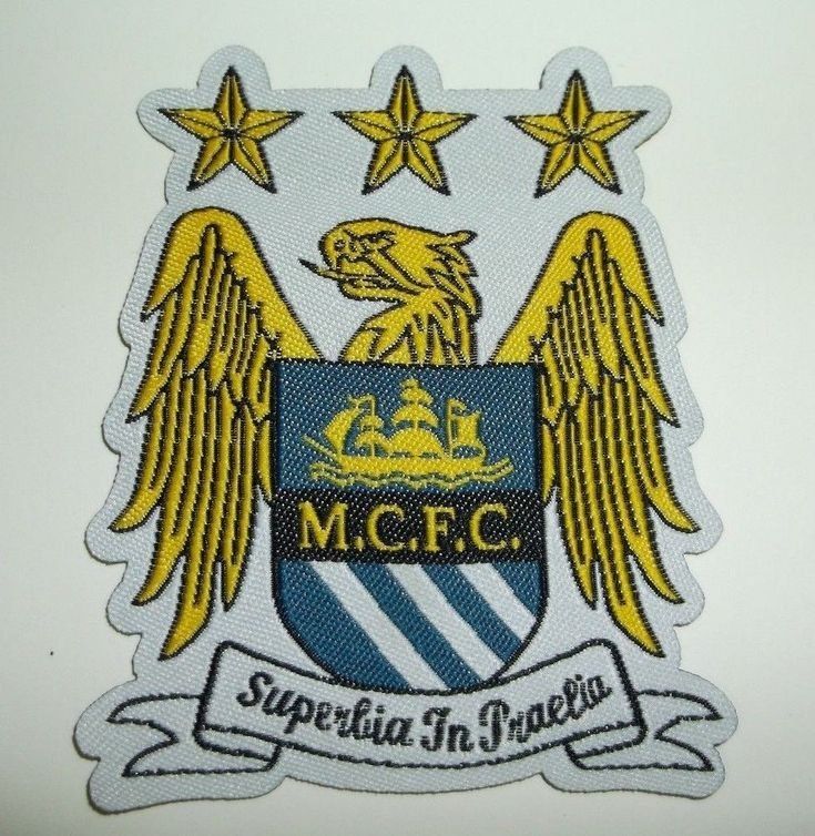 """Manchester City FC~Soccer Football Club Patch~EPL~Woven~2 3/4""""""""~Sew On~US Seller #Unbranded"""