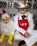 KFC Colonel Sanders and Chicken Costumes - 2014 Halloween Costume Contest
