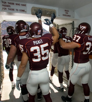 Reach for excellence.  Hokies, forever  http://www.vtmagazine.vt.edu/spring10/feature6.html