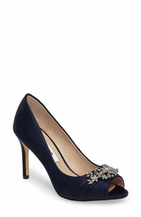 5e60d3a7f15 Nina Rumina Embellished Peep Toe Pump (Women)
