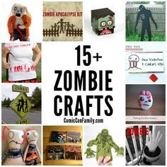 15+ Zombie Crafts -- something for all crafty skill levels and many include free printables and patterns