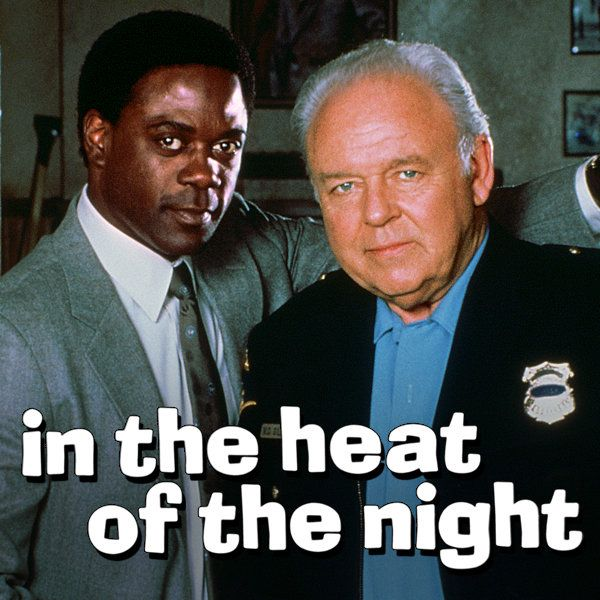 Carroll O'Connor and Howard Rollins