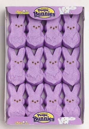 Lavender Peeps from @candydotcom
