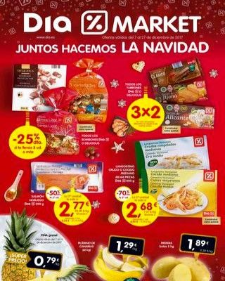 Catálogo DIA del 7 al 27 de Diciembre -  Ofertas válidas en supermercados DIA del 7 al 27 de Diciembre de 2017. Este folleto se centra en productos para los días de NAVIDAD: dulces, vinos, embutido, pollos rellenos…    #CatálogosDIA, #Catálogosonline   Ver en la web : https://ofertassupermercados.es/catalogo-dia-del-7-al-27-diciembre/