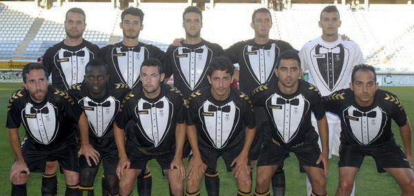 Spanish club Cultural Leonesa wear tuxedo-themed kit for charity match