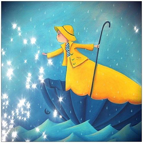 """""""Le parapluie"""" pour les """"Editions des Correspondances"""" illustration de Marie Cardouat, artiste française."""