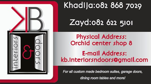 BUSINESS CARD for KB Interiors - Created by Design So Fine