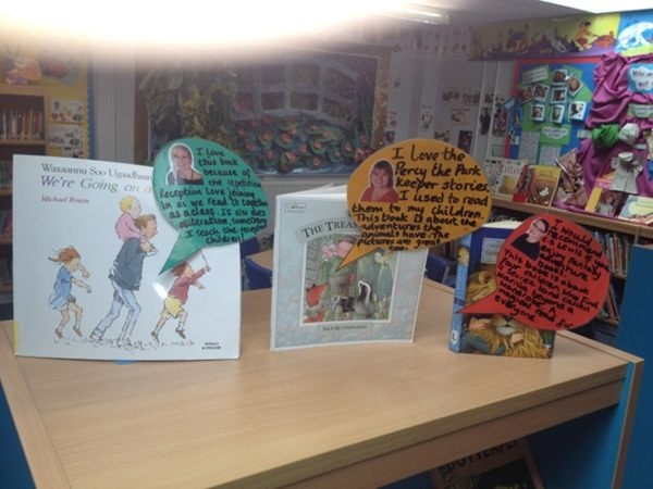 The best school libraries display books with front covers with mini reviews. Saw this in a great school @ectonbrookpri Photo - Jane Considine | Lockerz