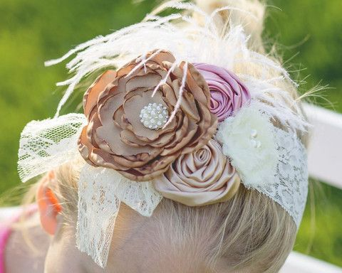 Flower Feather Boho Headband