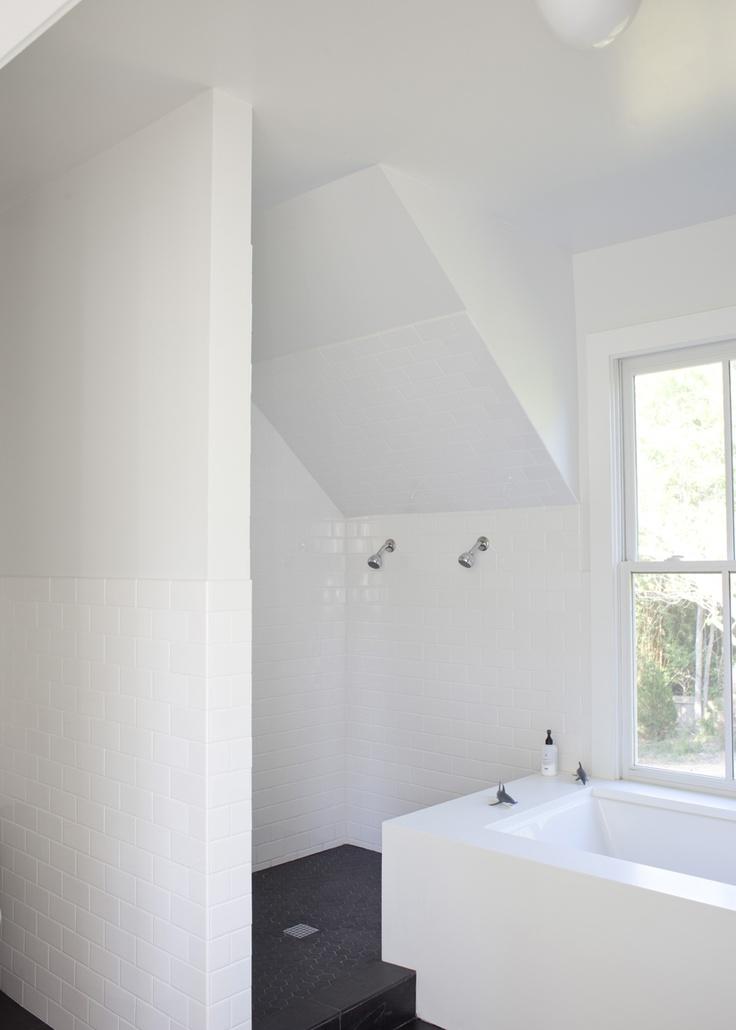 shower under stair Heather A Wilson, Architect | Pitt Street, Mount Pleasant