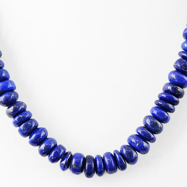 Genuine 540.00 Cts Untreated Blue Lapis Lazuli Beads Necklace FASHIONABLE BEAD NECKLACE