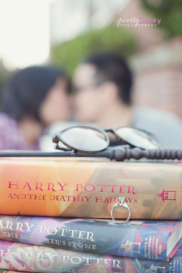Harry Potter inspired engagement. Except I wouldn't wanna take it off