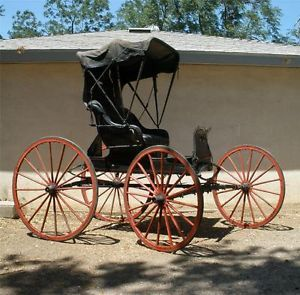 Antique Horse Drawn Doctor S Buggy Carriage Ebay On