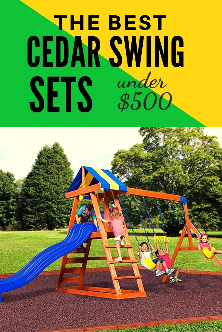 Best Wooden Swing Sets Under 500 Dollars This Is A Steal Cedar
